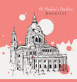 drawing sketch st stephens basilica vector image vector image