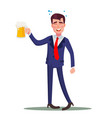drunk businessman relaxing concept meet vector image