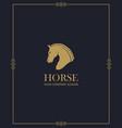 emblem of horse head vector image vector image