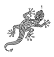 Ethnic ornamented lizard Vintage graphic vector image