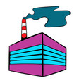 factory building icon icon cartoon vector image vector image