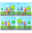 family father and mother child vector image vector image