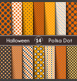 fourteen polka dot on halloween seamless vector image vector image