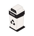 garbage sorting icon vector image