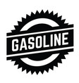 gasoline stamp on white vector image vector image