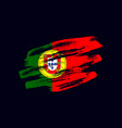 grunge textured portuguese flag vector image vector image