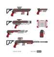 Guns for virtual reality system vector image vector image