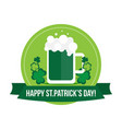 happy st patricks day label banner badge vector image vector image