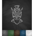 hipster owl icon Hand drawn vector image vector image