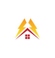 home electric logo vector image