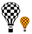 hot air balloon black symbol vector image vector image
