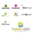 icon set in colorful with travel vector image vector image