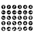 icons set fitness vector image vector image