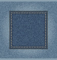 jeans square vector image vector image