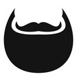 man beard icon simple style vector image vector image