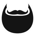 man beard icon simple style vector image