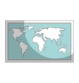 map paper guide icon vector image vector image