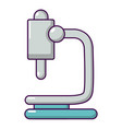 microscope icon cartoon style vector image