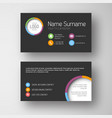 modern dark business card template with flat user vector image vector image