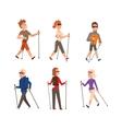 Nordic walking sport people vector image vector image