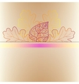 Ornamental background with art autumn leaves vector image vector image