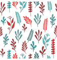 pattern with orange and aquamarine branches vector image