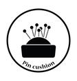 Pin cushion icon vector image vector image