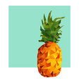 Pineapple fruit modern low poly design for summer vector image vector image