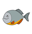 Piranha Cartoon vector image vector image