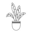 potted plant decoration garden isolated icon style vector image vector image