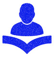 reader boy grunge icon vector image vector image