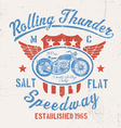Rolling Thunder Vintage Motorcycle Graphic vector image vector image
