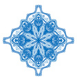 Round blue ornament vector image