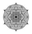 round boho black mandala on white isolated vector image vector image