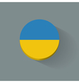 Round icon with flag of Ukraine vector image