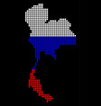 russia colors dot thailand map vector image