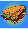 Sandwich Pop art vector image vector image