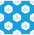 Scheme hexagon pattern vector image vector image