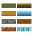 Seamless landscape square elements Big set vector image