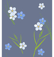 Seamless retro pattern of small flowers and grass vector image vector image
