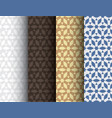 set of abstract colorful seamless islamic patterns vector image