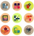 Set of abstract geometric flat icons vector image vector image