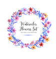 set watercolor florals and brunch and wreatch on a vector image vector image
