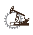 Silhouette of an oil pump gear vector image