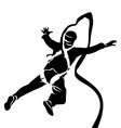 Silhouette of bungee jumper vector image