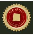 Star label New Mexico vector image