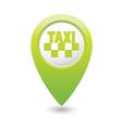 taxi icon map pointer green vector image vector image