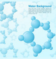 Water molecules background vector image