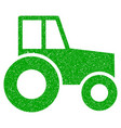 wheeled tractor icon grunge watermark vector image
