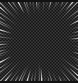 white radial lines for comics superhero action vector image vector image